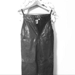 Pants - Vintage High Waist Leather Pants